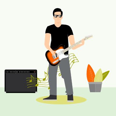 gitaarles pop